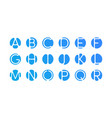 alphabet letters logo abstract blue icons vector image
