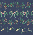 australian native rows seamless repeat vector image