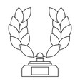 award branch laurel in pedestal icon vector image