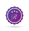 badge design elements letter r template vector image