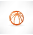 basketball ball grunge icon vector image vector image