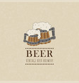 beer label on old paper texturevintage style vector image vector image