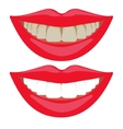 Before and after teeth whitening comparison vector image