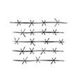 border wires symbol vector image vector image