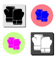boxing gloves flat icon vector image