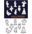 Cartoon Halloween ghosts vector image