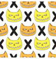 cats skull seamless pattern halloween background vector image vector image