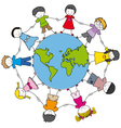 children from different cultures vector image vector image