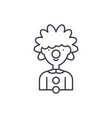 clown line icon concept clown linear vector image vector image