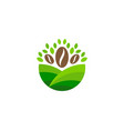 coffee farm logo icon design vector image vector image
