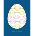 colorful horizontal ogee Easter egg vector image