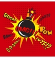 Comic bomb explosion poster vector image vector image