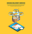 concept picture drone logistic service vector image vector image
