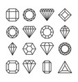diamonds or brilliants cute line icons set vector image vector image