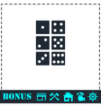 Dice icon flat vector image vector image