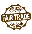 fair trade sign or stamp vector image vector image