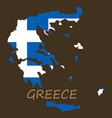 flag map of greece vector image vector image