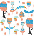 floral and trees nature seamless pattern it is vector image vector image