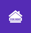 for rent icon with house vector image vector image