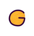 g letter logo in kids paper applique style vector image vector image