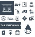 Gas Station Icons Black vector image vector image