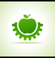 Green apple make gear shape business technology vector image vector image