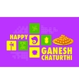 Happy Ganesh Chaturthi background vector image vector image