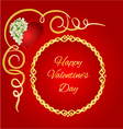 Happy Valentine day frame heart with jasmine vector image vector image