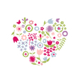 Heart of flowers for Mothers Day vector image