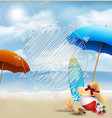 hello summer in beach seashore with holiday vector image