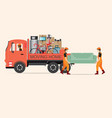 house moving services transportation and logistic vector image vector image