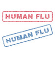 human flu textile stamps vector image vector image