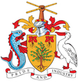 image of coat of arms of barbados