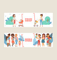 kids store banner pram shop flyer vector image