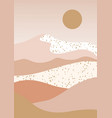 landscape design with desert hills abstract
