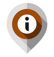 map pin information and reference symbol gps vector image