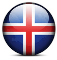 Map with Dot Pattern on flag button of Iceland vector image vector image
