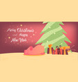 merry christmas card in colorful design vector image vector image