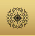 one flower symbol on golden background vector image