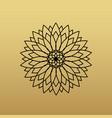 one flower symbol on golden background vector image vector image