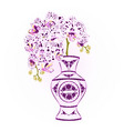 orchid phalenopsis with dots purple and white vector image vector image