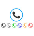 phone receiver rounded icon vector image vector image