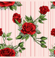 red rose flower bouquet spreads creeper elements vector image