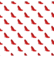 Red women shoes pattern cartoon style vector image vector image