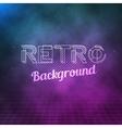 Retro Neon Background 1980 Neon Poster Retro vector image vector image