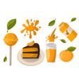 ripe orange products fruits citrus slices sweet vector image