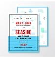 Sea Side Wedding Invitation Card or Ticket vector image vector image
