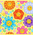 seamless background flower topic 1 vector image