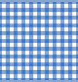 seamless blue tablecloth texture vector image vector image