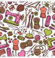 Seamless Color Pattern With Accessories For Sewing vector image